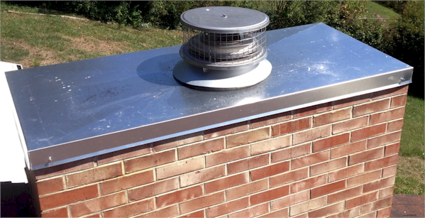 metalwork chase cover on chimney