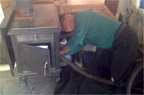 Randy Morse of Chim-Kleen - chimney cleaning with HEPA vacuum